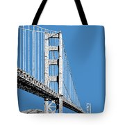 San Francisco Skyline Golden Gate Bridge 2 - Slate Blue Tote Bag