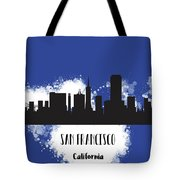 San Francisco Skyline Silhouette Tote Bag