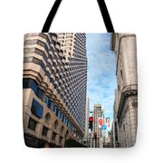 San Francisco Street View - Parc 55  Tote Bag