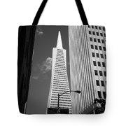San Francisco - Transamerica Pyramid Bw Tote Bag