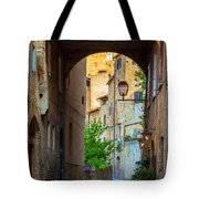 San Gimignano Archway Tote Bag by Inge Johnsson