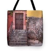 San Miguel Steps And Door Tote Bag