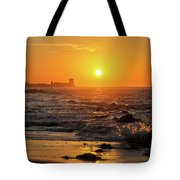 Sancti Petri Castle At Sunset San Fernando Cadiz Spain  Tote Bag