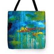 Sanctuary Abstract Painting Tote Bag