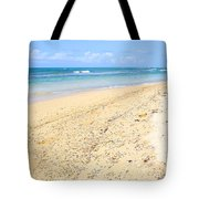 Sand And Turquoise In Vieques Tote Bag