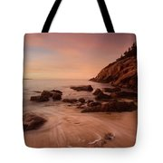 Sand Beach At Sunrise Tote Bag
