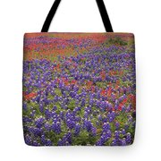 Sand Bluebonnet And Paintbrush Tote Bag