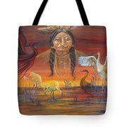 Sand Crane Dreams Tote Bag
