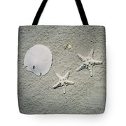 Sand Dollar And Starfish On The Beach Tote Bag