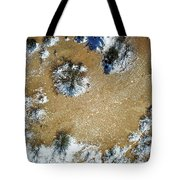 Sand Dune With Snow Tote Bag