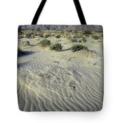 Sand Dunes And San Ysidro Mountains Tote Bag