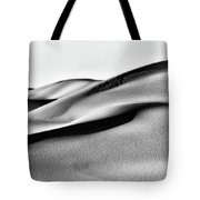 Sand Dunes Black And White Tote Bag