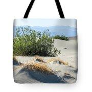 Sand Dunes, Plants, Mountains Tote Bag