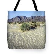 Sand Dunes & San Ysidro Mountains At El Tote Bag