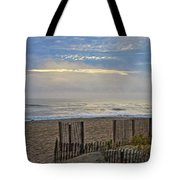 Sand Fence And Beach Tote Bag