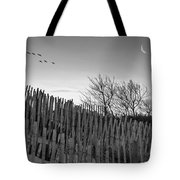 Dune Fences - Grayscale Tote Bag