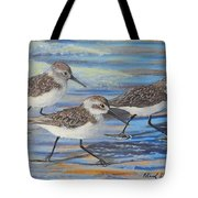 Sand Pipers Tote Bag