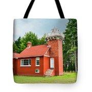 Sand Point Lighthouse - Baraga Tote Bag