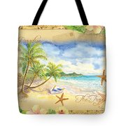 Sand Sea Sunshine On Tropical Beach Shores Tote Bag