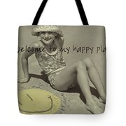 Sand Smile Quote Tote Bag
