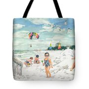 Sandcastles On Siesta Key Public Beach Tote Bag