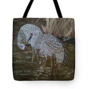 Sandhill Crane Couple Tote Bag