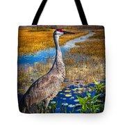 Sandhill Crane In The Glades Tote Bag