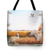 Sandhill Cranes-jp3159 Tote Bag