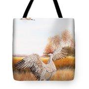 Sandhill Cranes-jp3161 Tote Bag