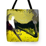 Sandhill Scratching Tote Bag