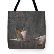Sandhills In Flight Tote Bag