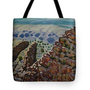 Looking Down From The Sandia Mountains Tote Bag