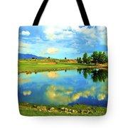 Sandia Golf Club Hole #14 Tote Bag