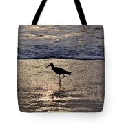 Sandpiper On A Golden Beach Tote Bag