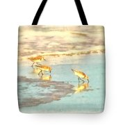 Sandpipers Along The Shoreline Tote Bag