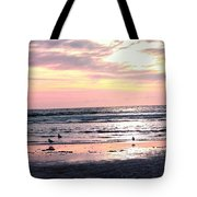 Sandpipers At Old Silver  Tote Bag