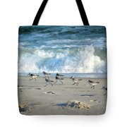 Sandpipers Running Everywhere Tote Bag