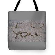 Sandscript - I Love You Tote Bag