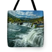 Sandstone Falls New River  Tote Bag