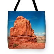 Sandstone Monolith, Courthouse Towers, Arches National Park Tote Bag