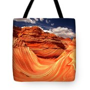 Sandstone Waves And Clouds Tote Bag