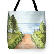 Sandy Beach Awaits Tote Bag