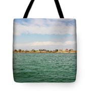 Sandy Neck Lighthouse And Cottages, Barnstable, Massachusetts, U.s.a. Tote Bag