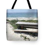 Sandy Picnic Table Tote Bag