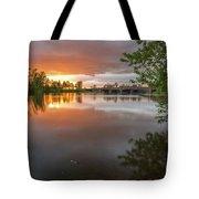 Sandy River Sunset Tote Bag