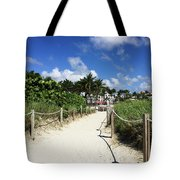 Sandy Trail Miami Florida Tote Bag