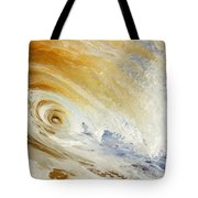 Sandy Wave Crashing Tote Bag