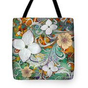 Sangria Flora Tote Bag by Christopher Beikmann