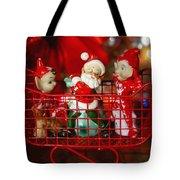 Santa And His Elves Tote Bag
