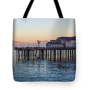 Santa Barbara Wharf At Sunset Tote Bag